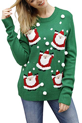 Pink Queen Unisex Ugly Christmas Xmas Pullover Sweater Jumper Santa Claus L