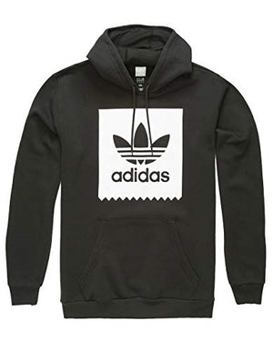 adidas Originals Men's Solid Bb Hoodie, Black/White, Large
