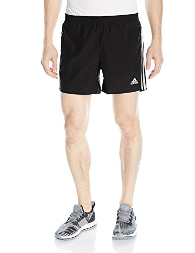 "adidas Men's Response 9"" Running Shorts, Black/White, Small"