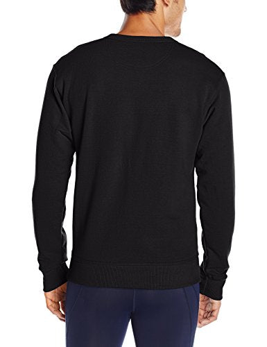 Champion Men's Powerblend Pullover Sweatshirt, Black, Medium