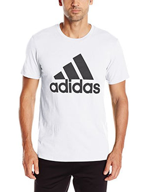 adidas Men's Badge of Sport Graphic Tee, White/Black, Large