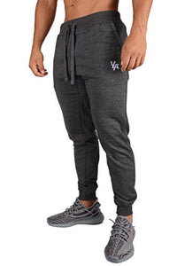 YoungLA Joggers Pants for Men Athletic Sweatpants Gym Workout Slim Fit with Pockets 216 Charcoal Medium