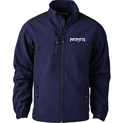 Dunbrooke Apparel NFL New England Patriots Men's Softshell Jacket, Large, Navy