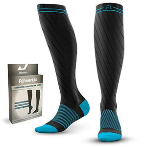 1 Day Sale! PowerLix Compression Socks for Women & Men – 20-30 mmHg Medical Stockings Support Circulation, Recovery – Graduated Socks for Nursing, Pregnancy, Shin Splints, Varicose Veins, Running