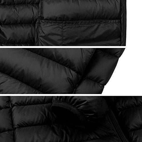 Wantdo Men's Hooded Packable Light Weight Down Jacket Medium Black - Pharaoh Athletics