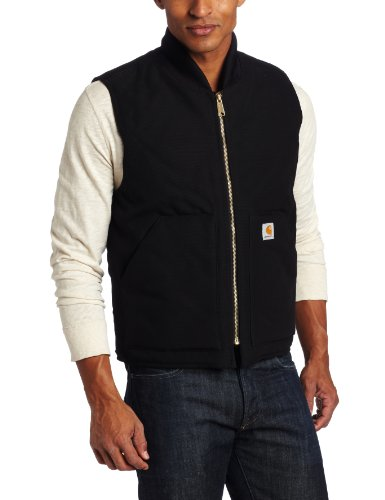 Carhartt Men's Big & Tall Duck Vest Arctic Quilt Lined,Black,XX-Large Tall