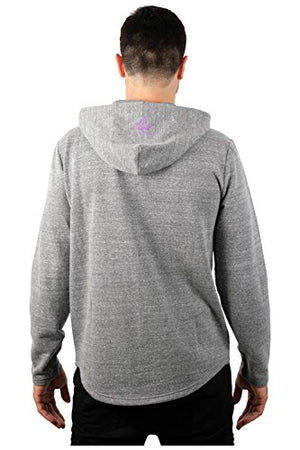 Icer Brands NFL Minnesota Vikings Men's Fleece Hoodie Pullover Sweatshirt Vintage Logo, Large, Gray