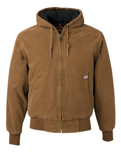 DRI Duck Men's 5020 Cheyenne Hooded Work Jacket, Saddle, X-Large