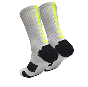 4 Pack Men's Cushioned Basketball Dri-Fit Athletic Compression Long Sports Outdoor Dress Socks Size 7-12 (Style 3)