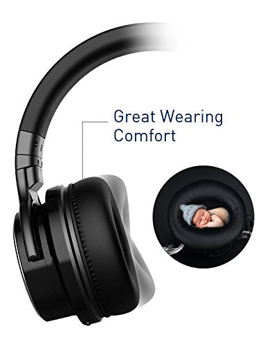 COWIN E7 Pro [2018 Upgraded] Active Noise Cancelling Headphone Bluetooth Headphones Microphone Hi-Fi Deep Bass Wireless Headphones Over Ear 30H Playtime Travel Work TV Computer Phone - Black