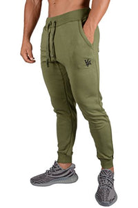 YoungLA Joggers Pants for Men Athletic Sweatpants Gym Workout Slim Fit with Pockets 216 Olive Large