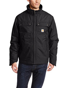 Carhartt Men's Quick Duck Jefferson Traditional Jacket,Black,Large