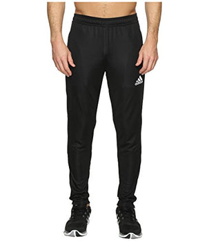 adidas Men's Soccer Tiro 17 Training Pants, Black/Black, Small