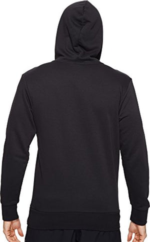 adidas Men's Essential Linear Logo Pullover Hoodie, Black/White, Large