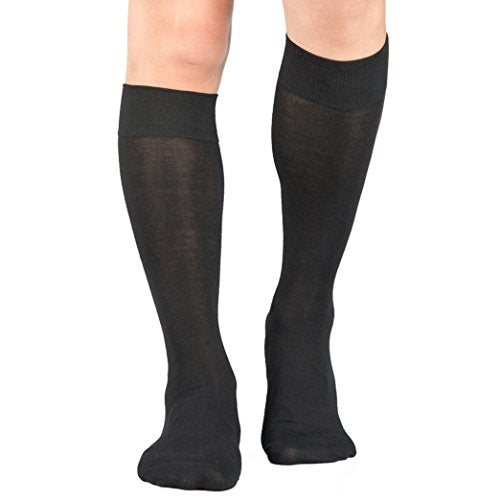 3 Pairs Men's Knee-High Dress Socks