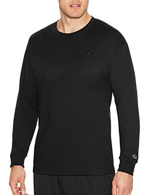 Champion Men's Classic Jersey Long Sleeve T-Shirt, Navy, S