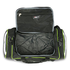"Fila Acer 25"" Sport Duffel Bag, Black/Neon Green"