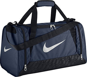 Nike BA4831401 Brasilia 6 S Duffel Grip Gym Bag Midnight Navy