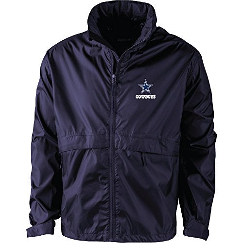 Dunbrooke Apparel NFL Dallas Cowboys Men's 5490Sportsman Waterproof Windbreaker Jacket, Navy, X-Large