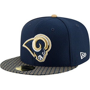 New Era 59Fifty Hat Los Angeles Rams NFL 2017 On Field Official Sideline Fitted Cap - Pharaoh Athletics