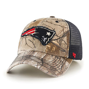 '47 NFL New England Patriots Realtree Huntsman Closer Stretch Fit Hat, Medium/Large, Realtree/Navy