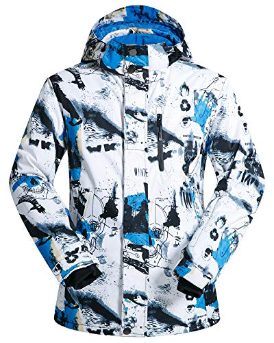ELETOP Men's Ski Jacket Outdoor Waterproof Windproof Coat Snowboard Mountain Rain Jacket