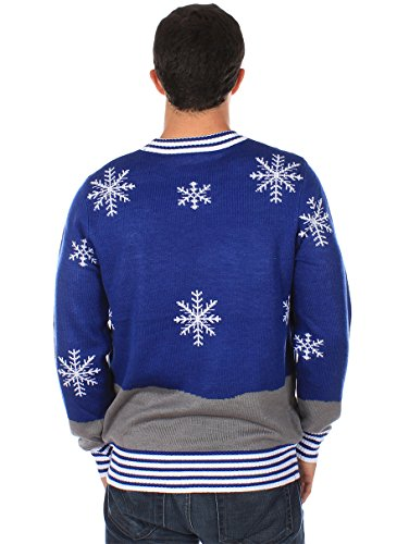 Tipsy Elves Ugly Christmas Sweater - Snowman Nose Thief Sweater (M)