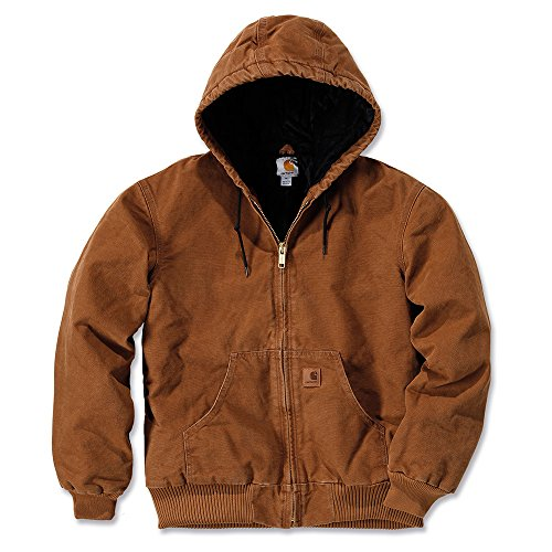 Carhartt Men's Quilted Flannel Lined Sandstone Active Jacket J130,Carhartt Brown,X-Large