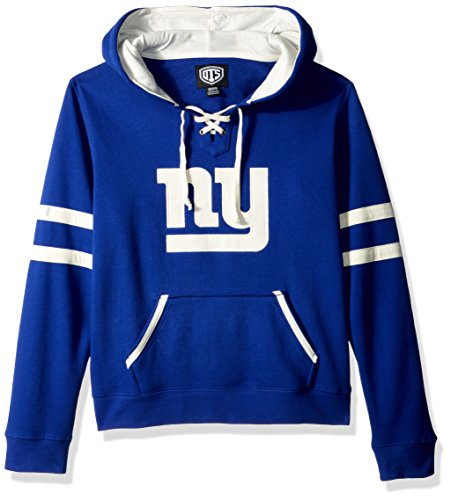 NFL New York Giants Women's Ots Grant Lace Up Pullover Hood, Large, Royal blue