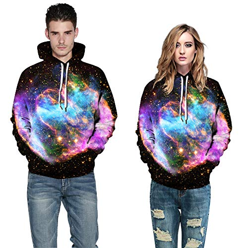 Azuki Women's and Men's Digital Print Sweatshirts Hooded Top Hoodie S