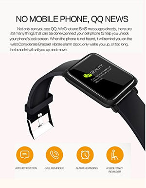 Fitness Tracker Blood Pressure Heart Rate Monitor Blood Oxygen Activity Pedometer Big Fitness Tracker Sleep Monitor for Women Men