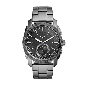 Fossil Q Men's Machine Stainless Steel Hybrid Smartwatch, Color: Grey (Model: FTW1166)