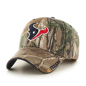 '47 NFL Houston Texans Frost MVP Camo Adjustable Hat, One Size Fits Most, Realtree Camouflage