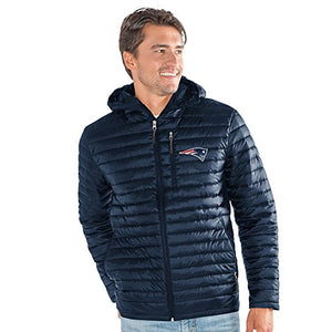G-III Sports NFL New England Patriots Equator Quilted Jacket, 3X, Navy