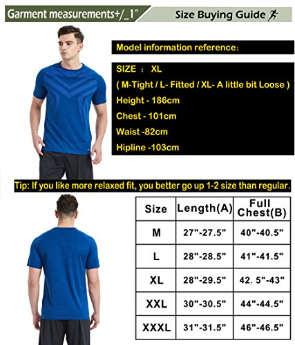 Akilex Men's Running Dry Fit T-Shirt Athletic Outdoor Short Sleeve Comfortable Top
