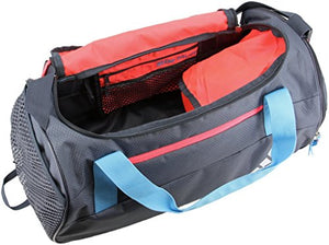 adidas Squad Duffel Bag, Red/Frozen Yellow, One Size