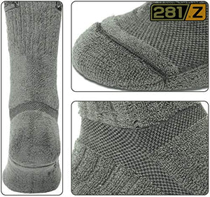 281Z Military Boot Socks - Tactical Trekking Hiking - Outdoor Athletic Sport (Sage Green)