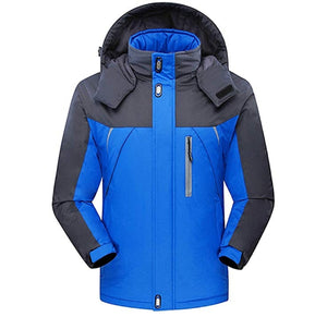 CROTI Men's Ski Jackets Waterproof Windproof Fleece Jackets Mountain Hooded Jackets Outdoors Winter