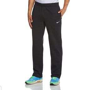 NIKE Mens Club Swoosh Fleece Open Hem Sweatpants