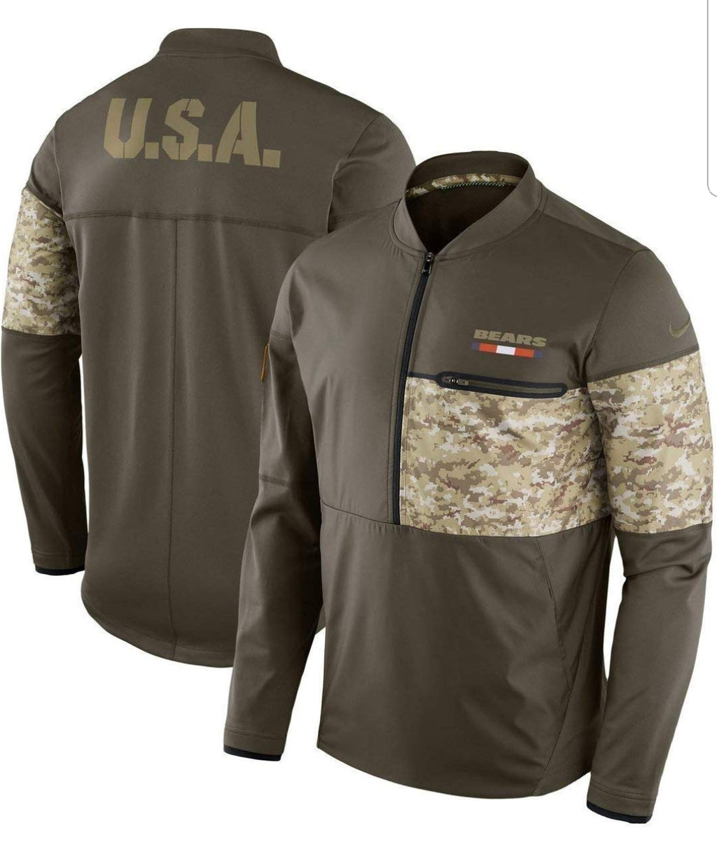 Chicago Bears NFL Salute to Service Sideline Men's Hybrid Jacket (XX-Large)