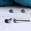 pure grade 1 titanium amethyst earrings