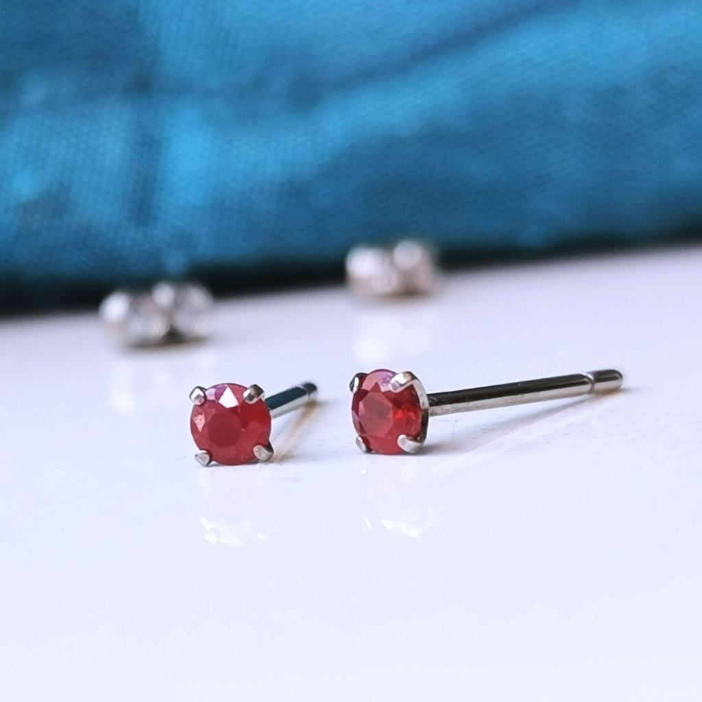 Titanium Ruby earrings