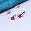 Ruby earrings hypoallergenic titanium studs