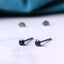 Titanium 3mm Sapphire Stud Earrings