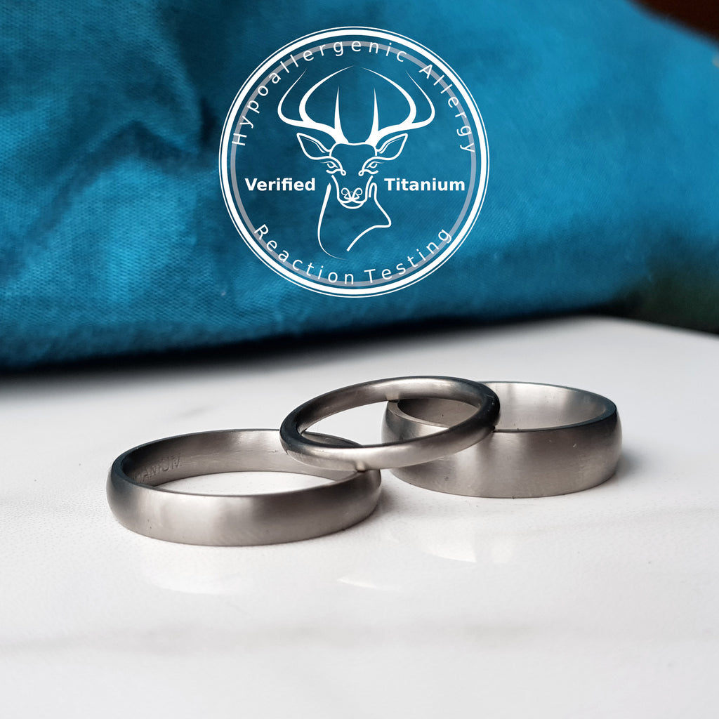 Matte Titanium Wedding Band With Optional Laser Engraving