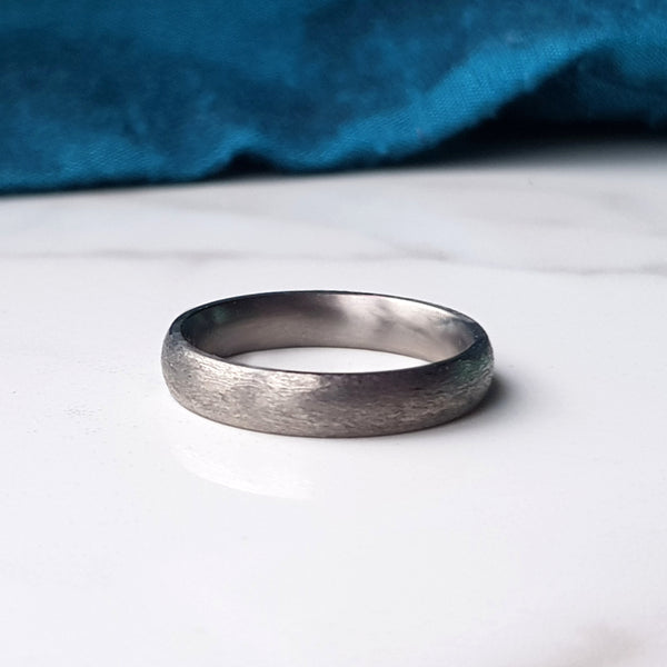 Textured Titanium Ring