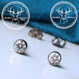 Verified Certified Titanium diamond hypoallergenic earrings