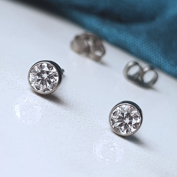 Ethical lab grown diamond earrings