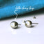 Titanium Tahitian Keshi Pearl Earrings - 7mm