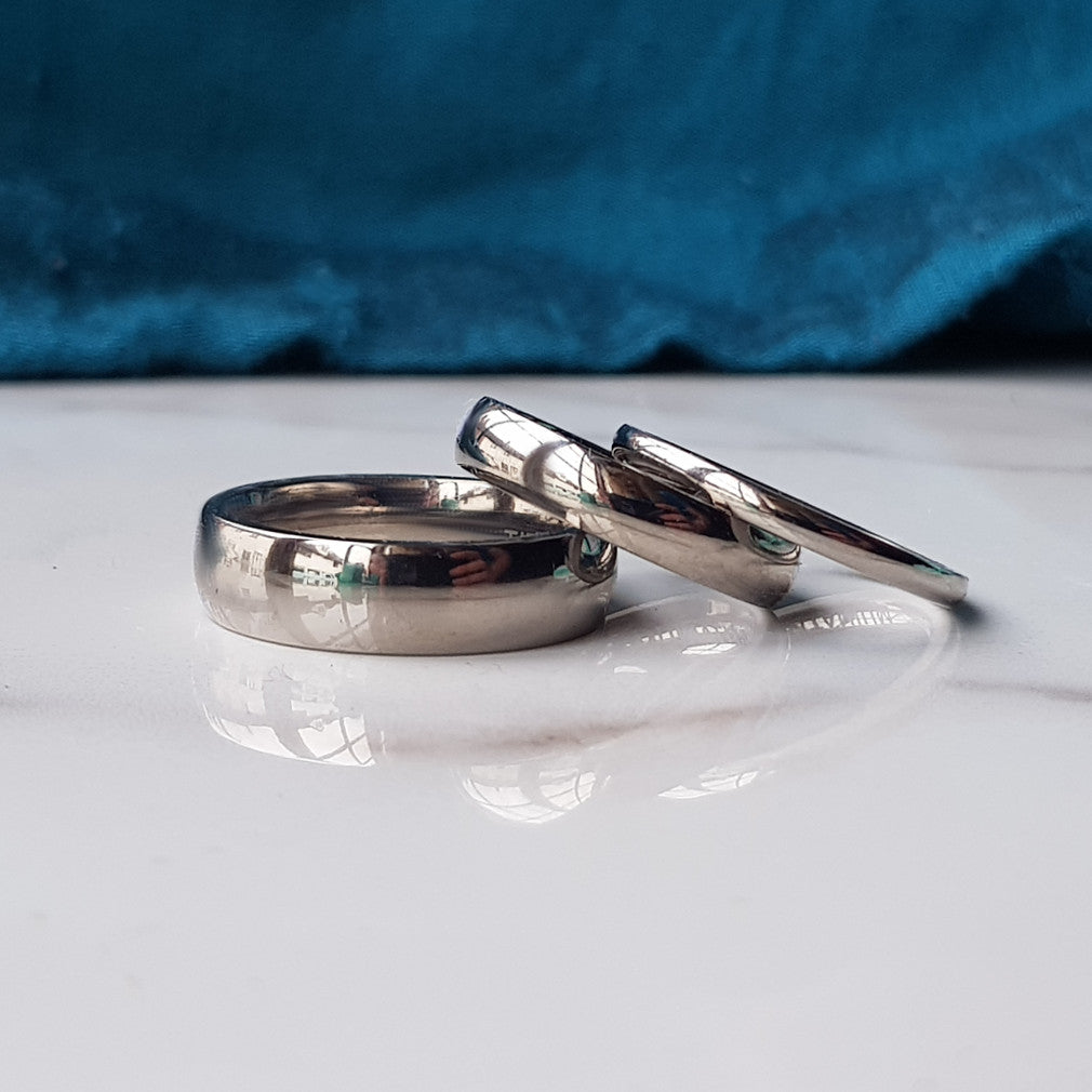 polished titanium wedding band